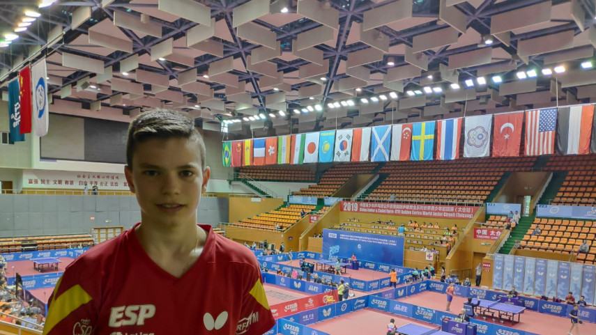 Daniel Berzosa compite en el ITTF Junior Circuit Golden China Open 2019